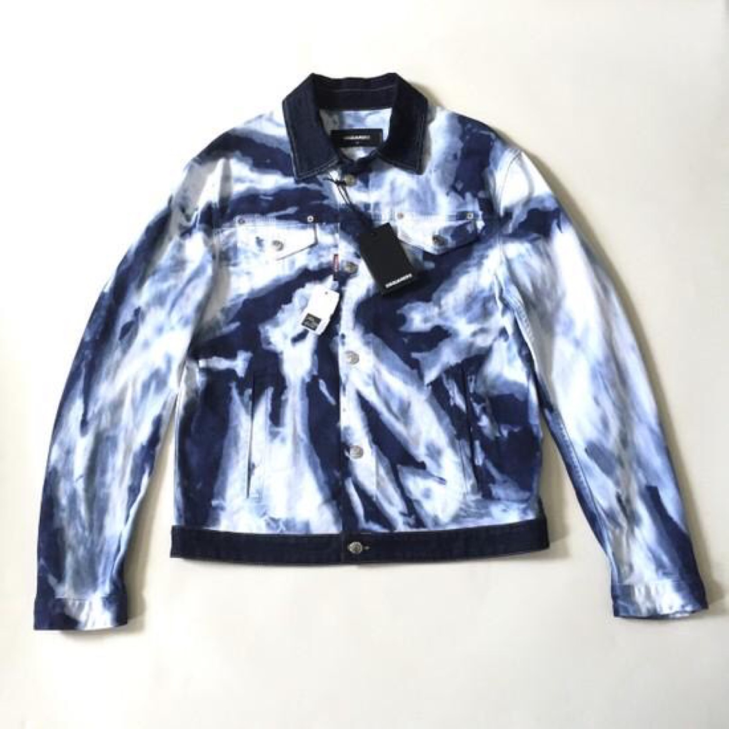 Dsquared2 Bleached Denim Trucker Jacket Nwt