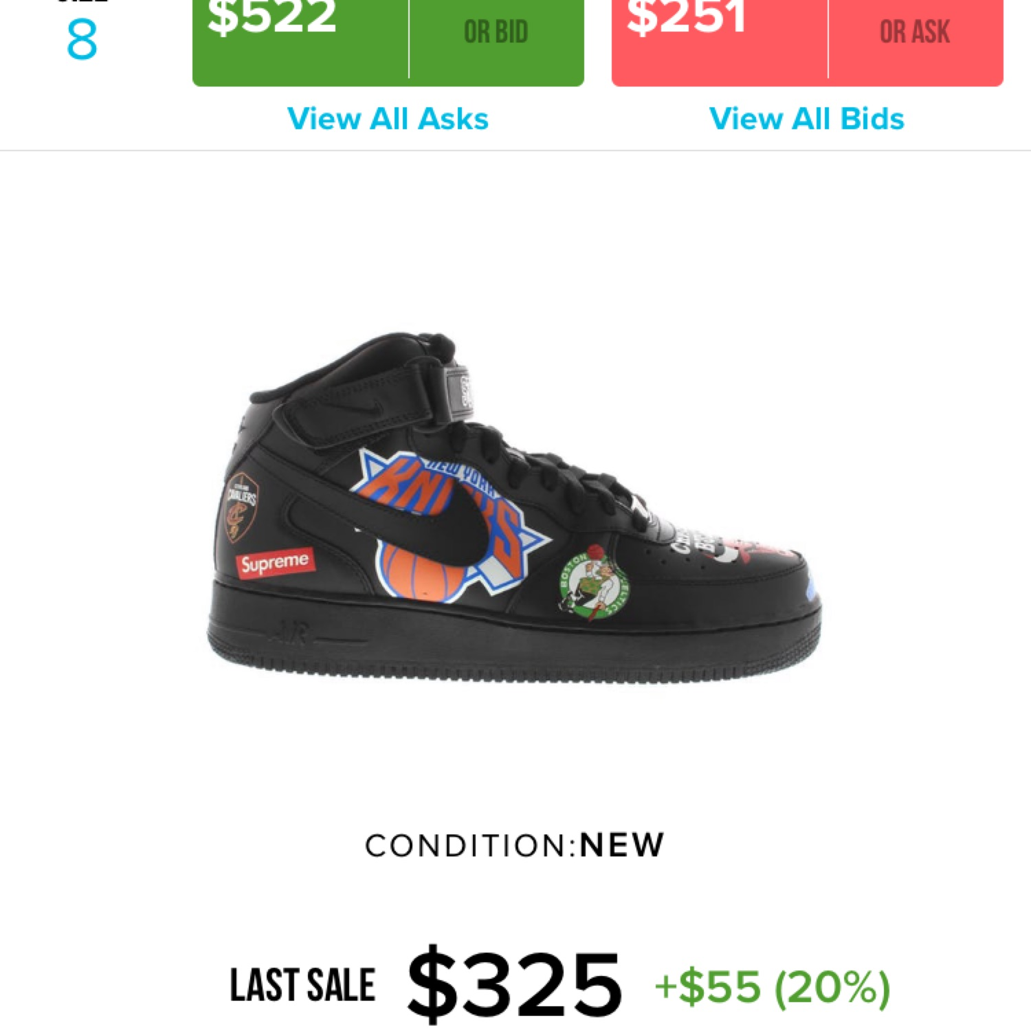 release date ebe8d 8a70a Nike Air Force 1 X Comme Des Garcons X Supreme