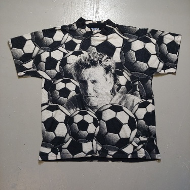 Vintage Rod Stewart Soccer Ball All Over Print Rare T-shirt Hype