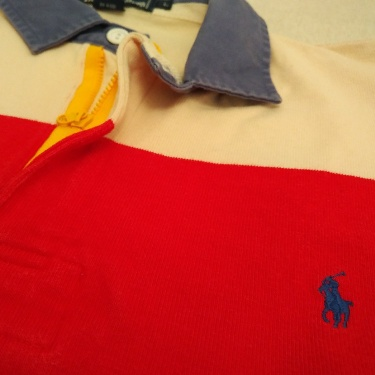 Polo Ralph Lauren Rugby shirt red white
