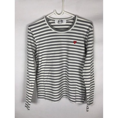 Cdg Play Small Heart Striped Long Sleeve