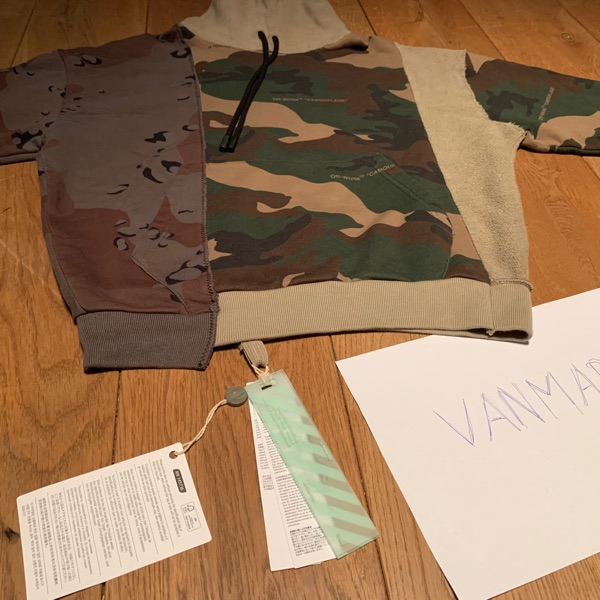 New Off White Camo Hoody Size S With Tags