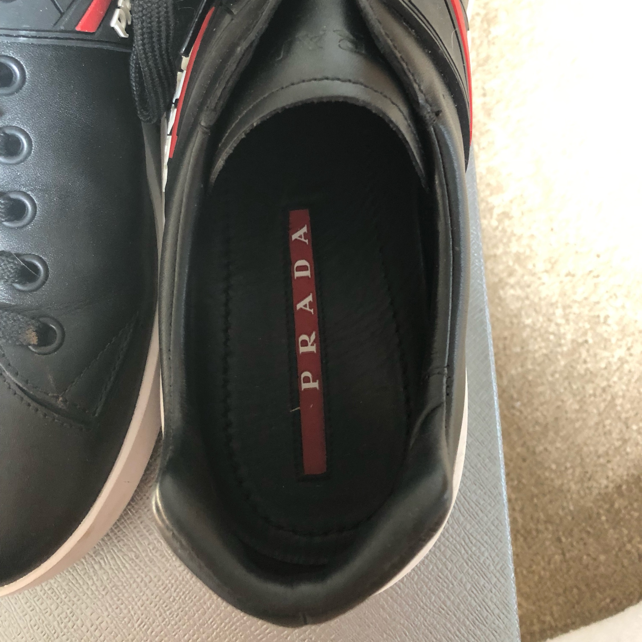Prada Low Top Leather Trainers