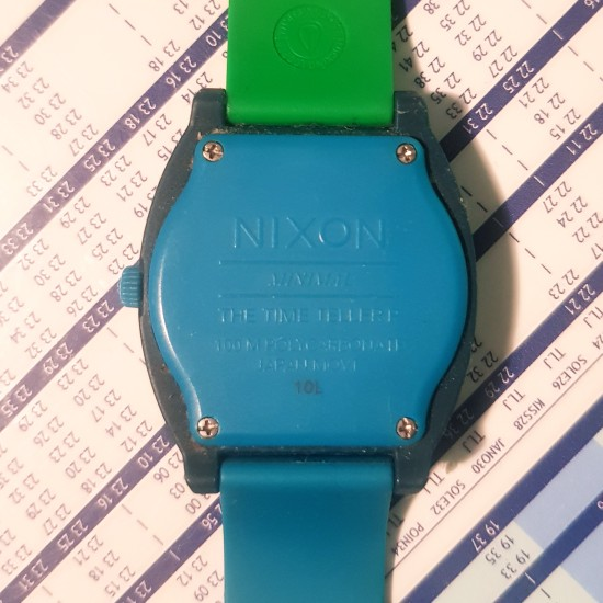 Nixon Blue and Green watch One Size