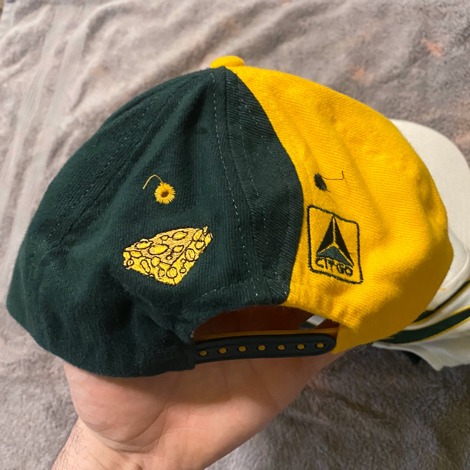 4 Vintage Green Bay Packers Hat Snapback Yellow
