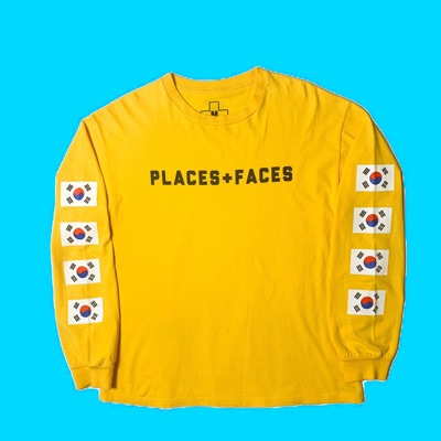 Yellow Places + Faces Long Sleeve T Shirt