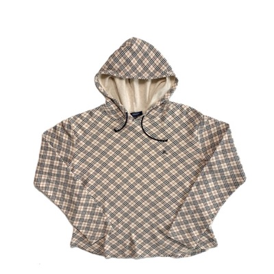 Vintage Burberry Hooded Long Sleeve Top