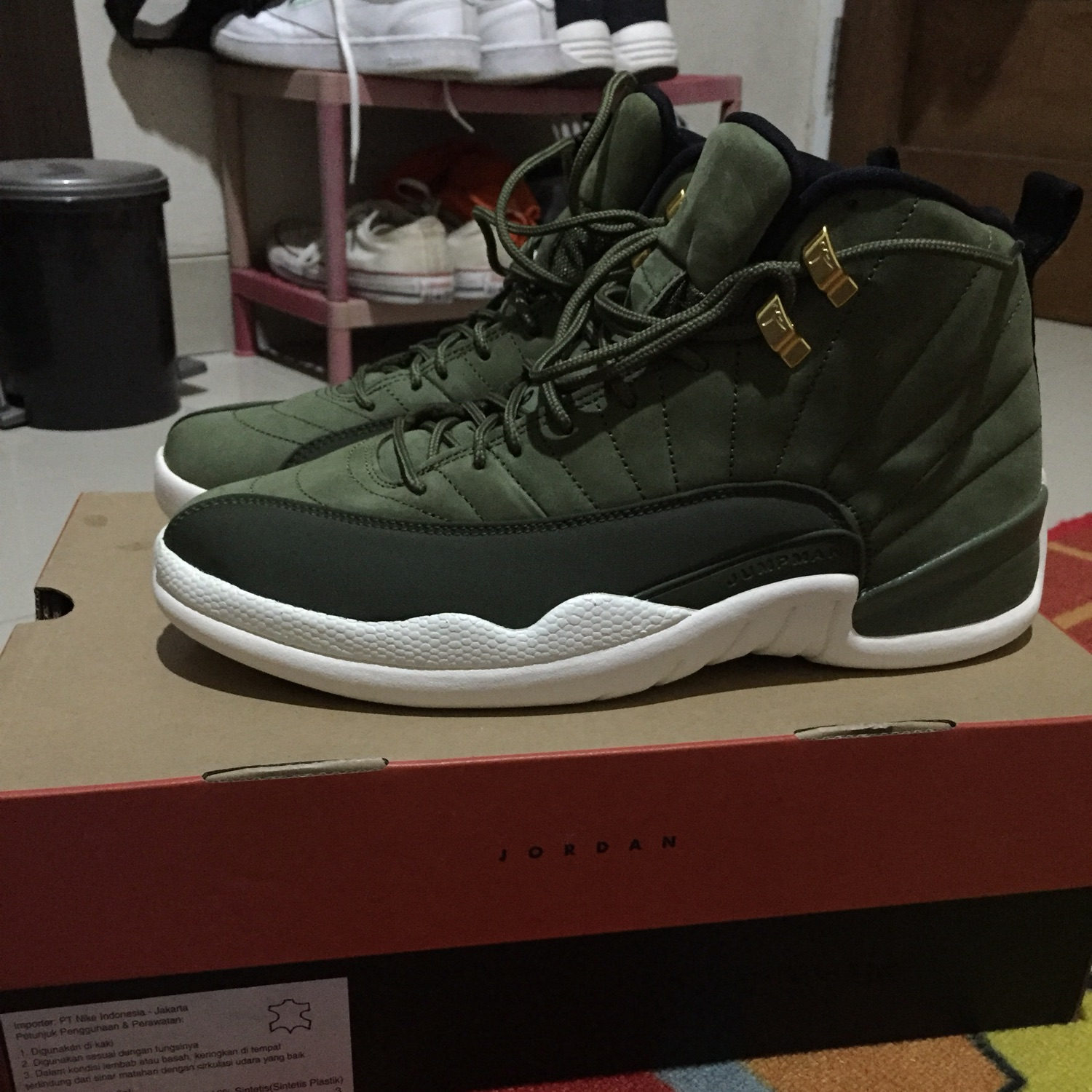 best service 09239 543d9 Air Jordan 12 Retro Olive Green
