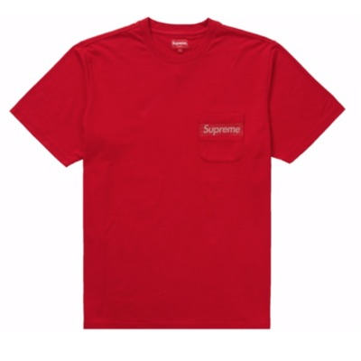 Supreme Mesh Stripe Pocket Tee Red