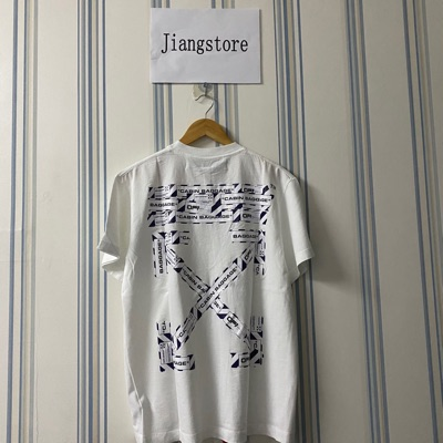 Off-White Oversized Airport Tape White Tee
