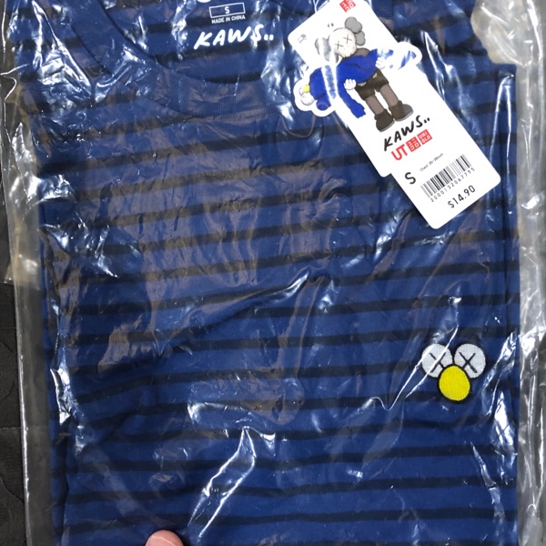 Last Kaws X Uniqlo Collaboration Blue Striped (S)