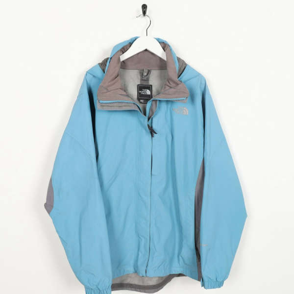 Vintage Women's THE NORTH FACE Small Logo HyVent Jacket Coat Blue   XL