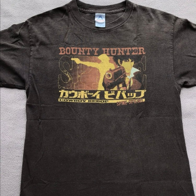 Very Rare Vintage Cowboy Bebop Spike Siegel Anime Manga T Shirt V Akira Ghost In The Shell Devilman Trigun Evangelion