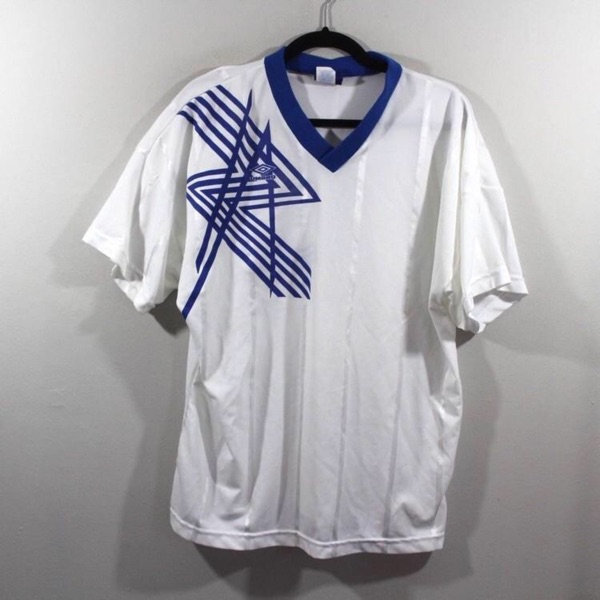 Vintage Umbro Spellout Soccer Jersey