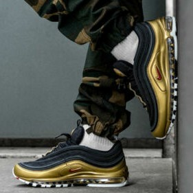 Details about NIKE AIR MAX 97 OG QS BLACK GOLD NEW BOXED AT5458 002 UK SIZE 6