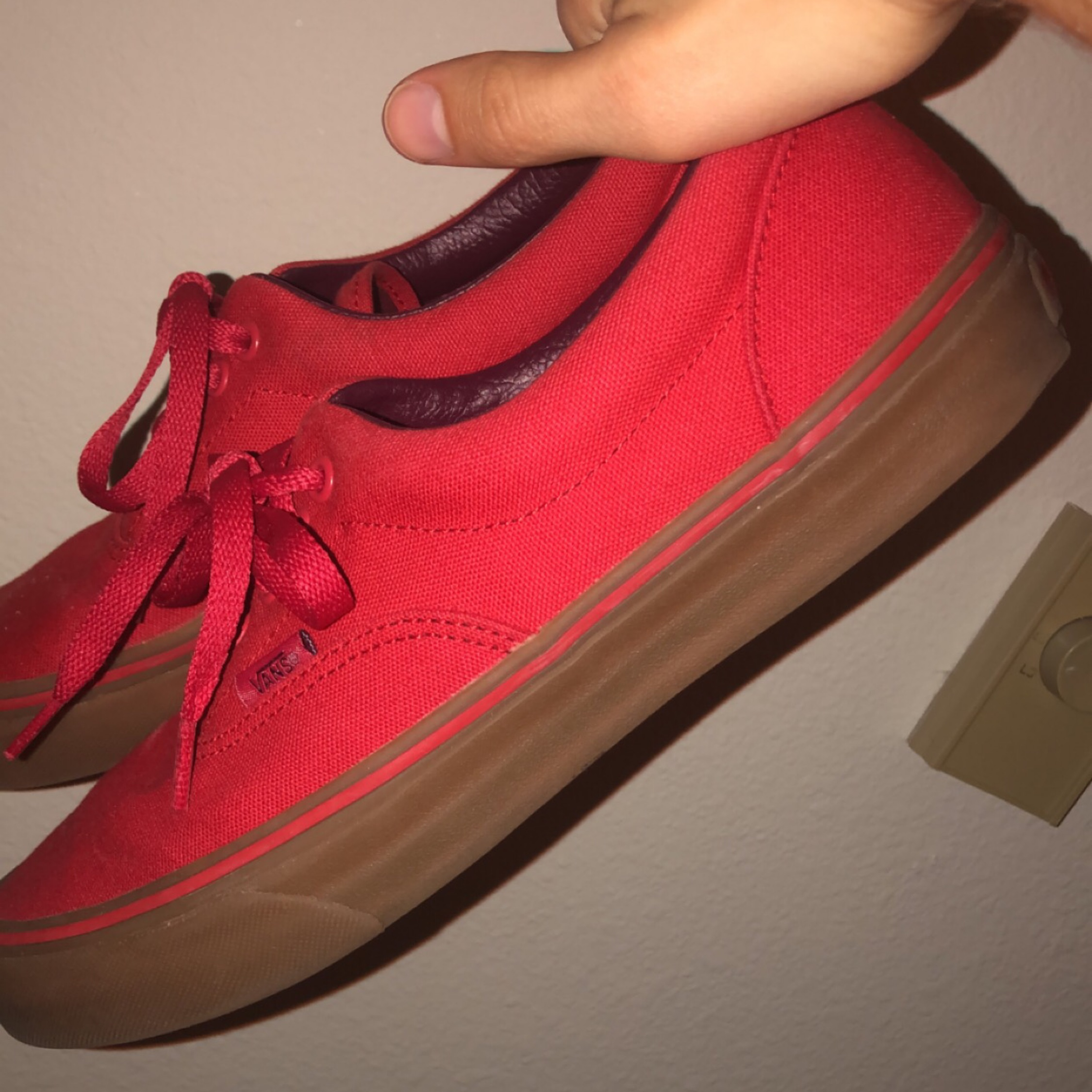 Vans Authentic Red With Gum Sole