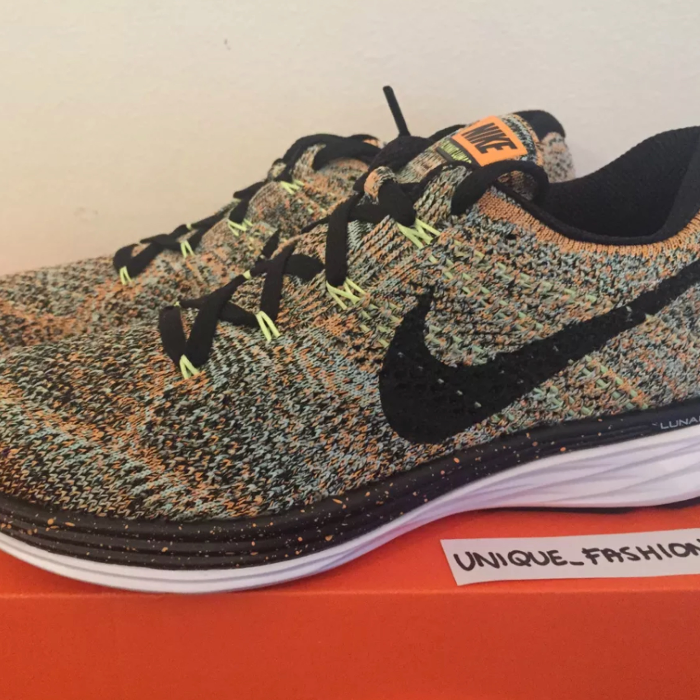 new concept 386d0 bdcaf Nike Flyknit Lunar 3 Bright Multi New Us5.5