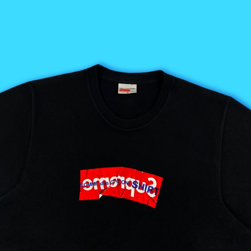 Supreme Cdg Box Logo Tee Black