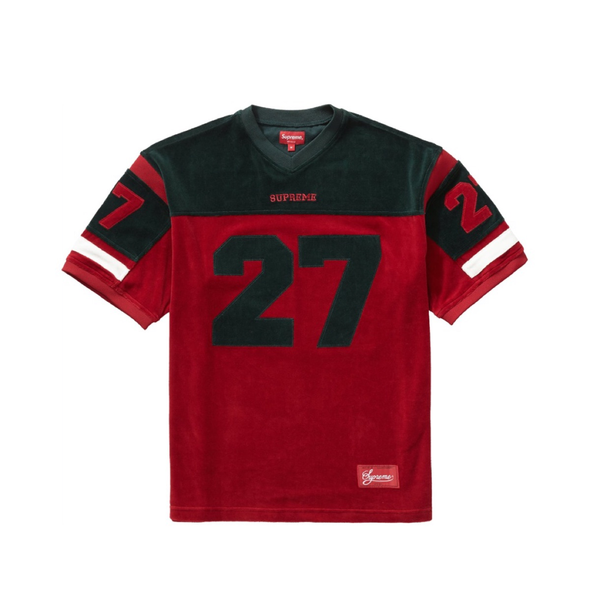 Supreme Velour Football Jersey Red