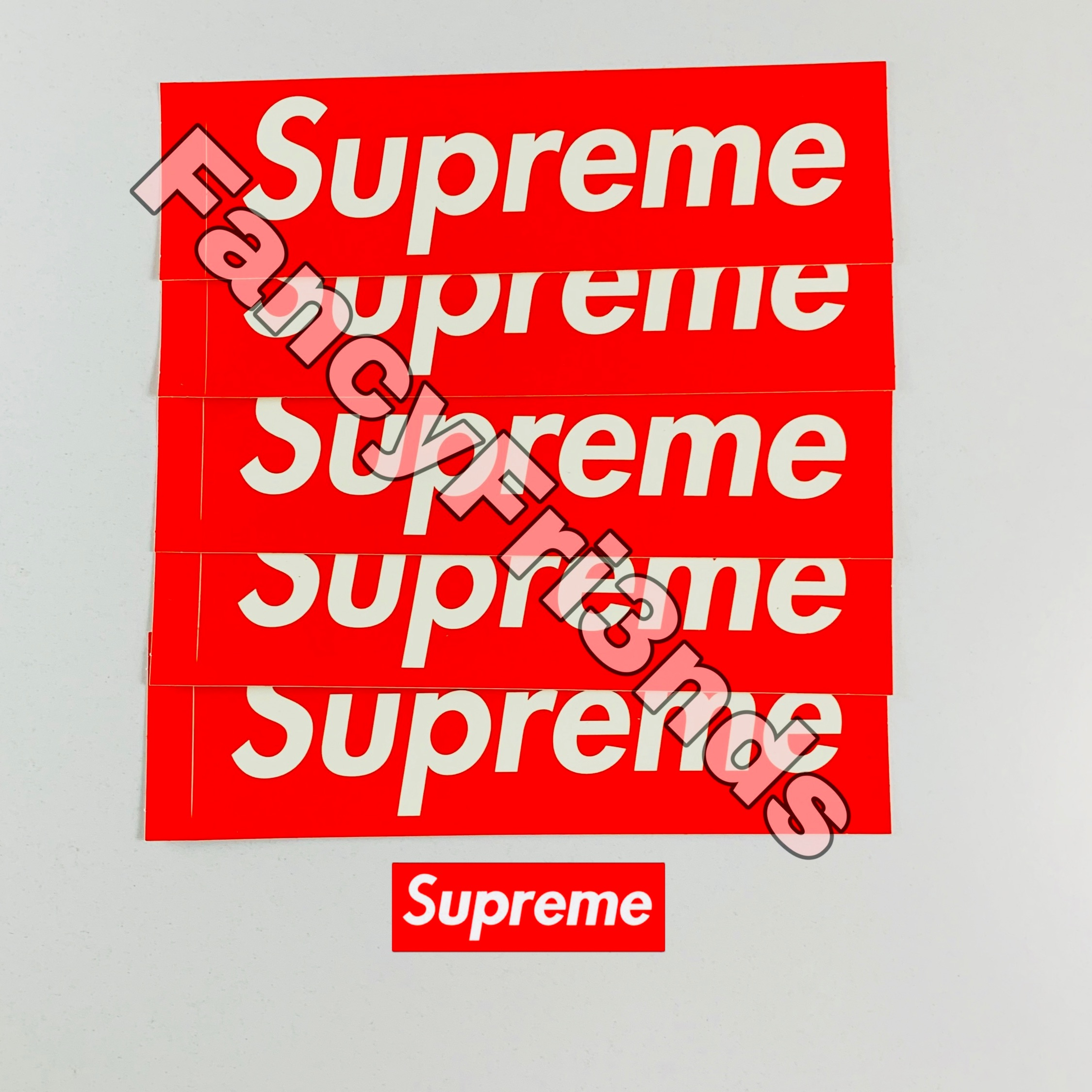 Supreme Box Logo Red Stickers
