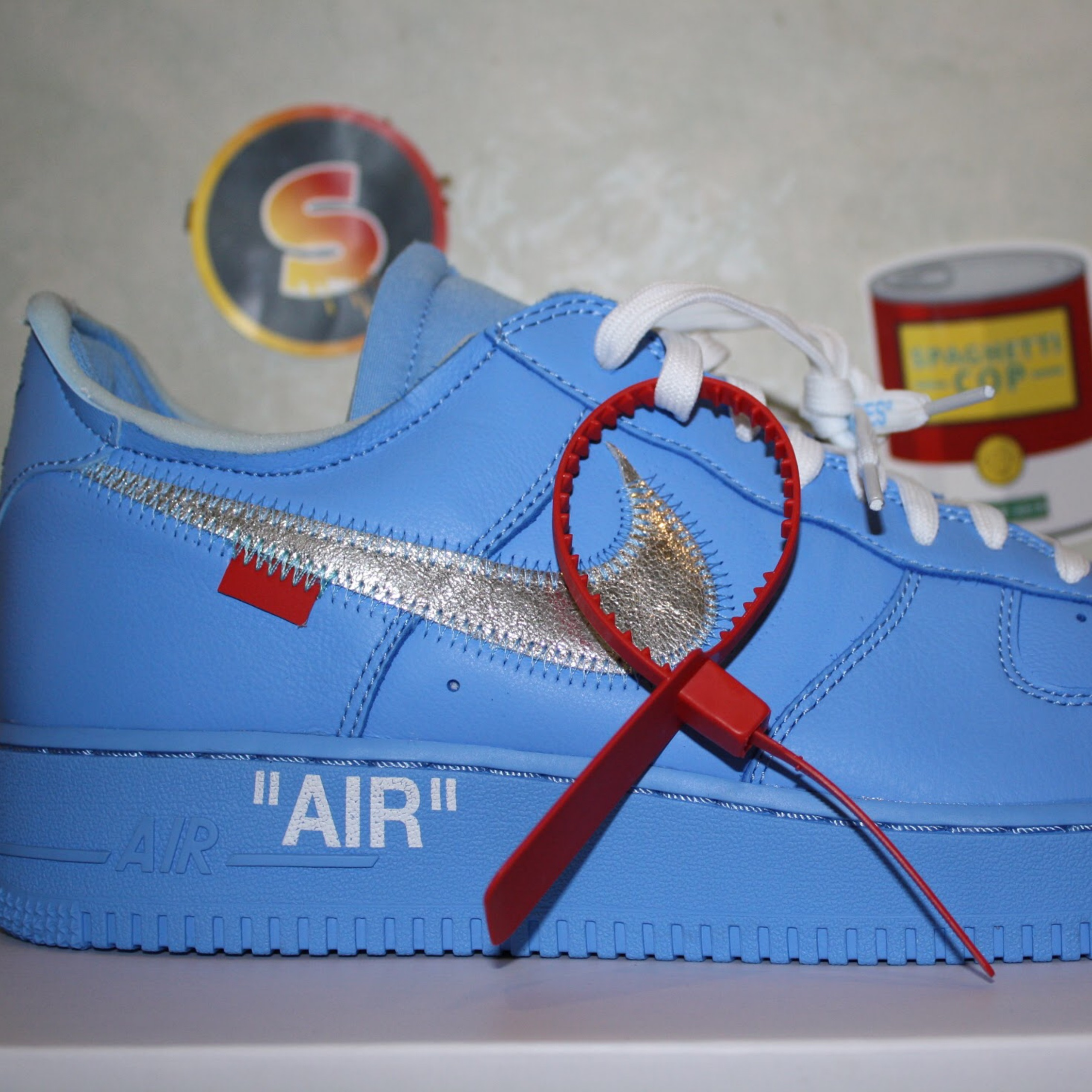 """Air Force One X Off White """"Mca"""" Blue 