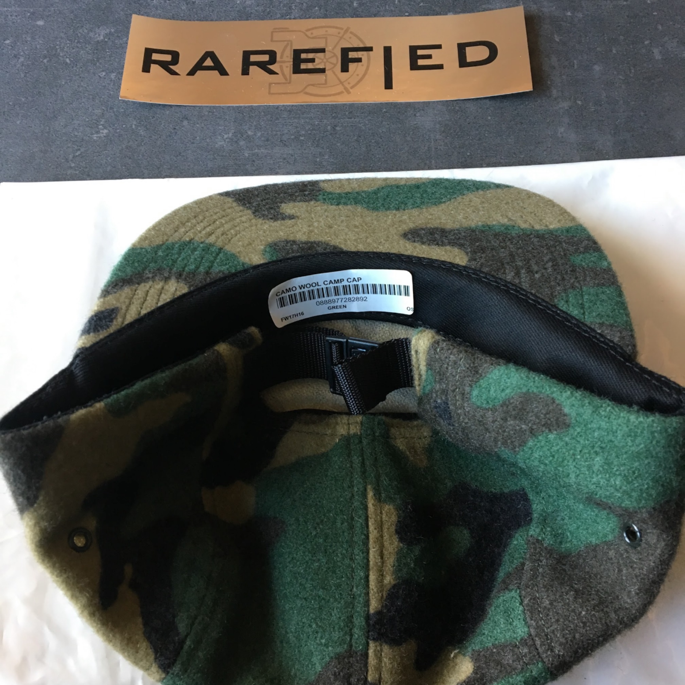 76d49653c5a Supreme Camo Wool Camp Cap