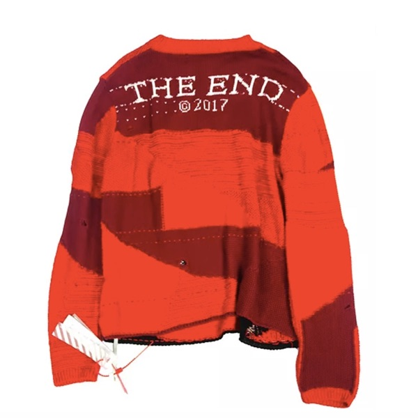 Off White Red Knitwear Large New