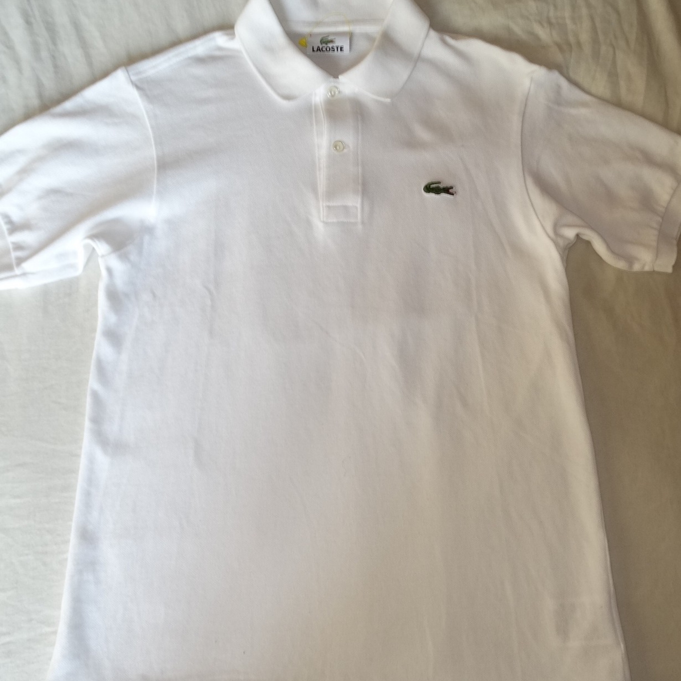 sports shoes official supplier best quality Lacoste White Polo Made In Japan