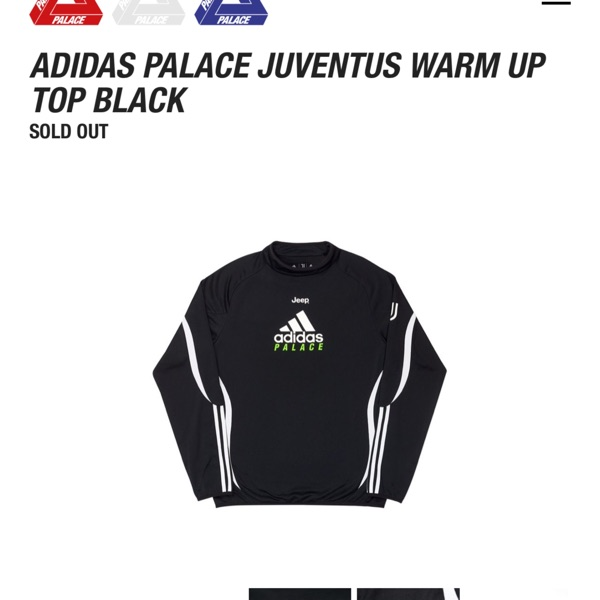 Adidas/Palace Juventus Warmup Top Black