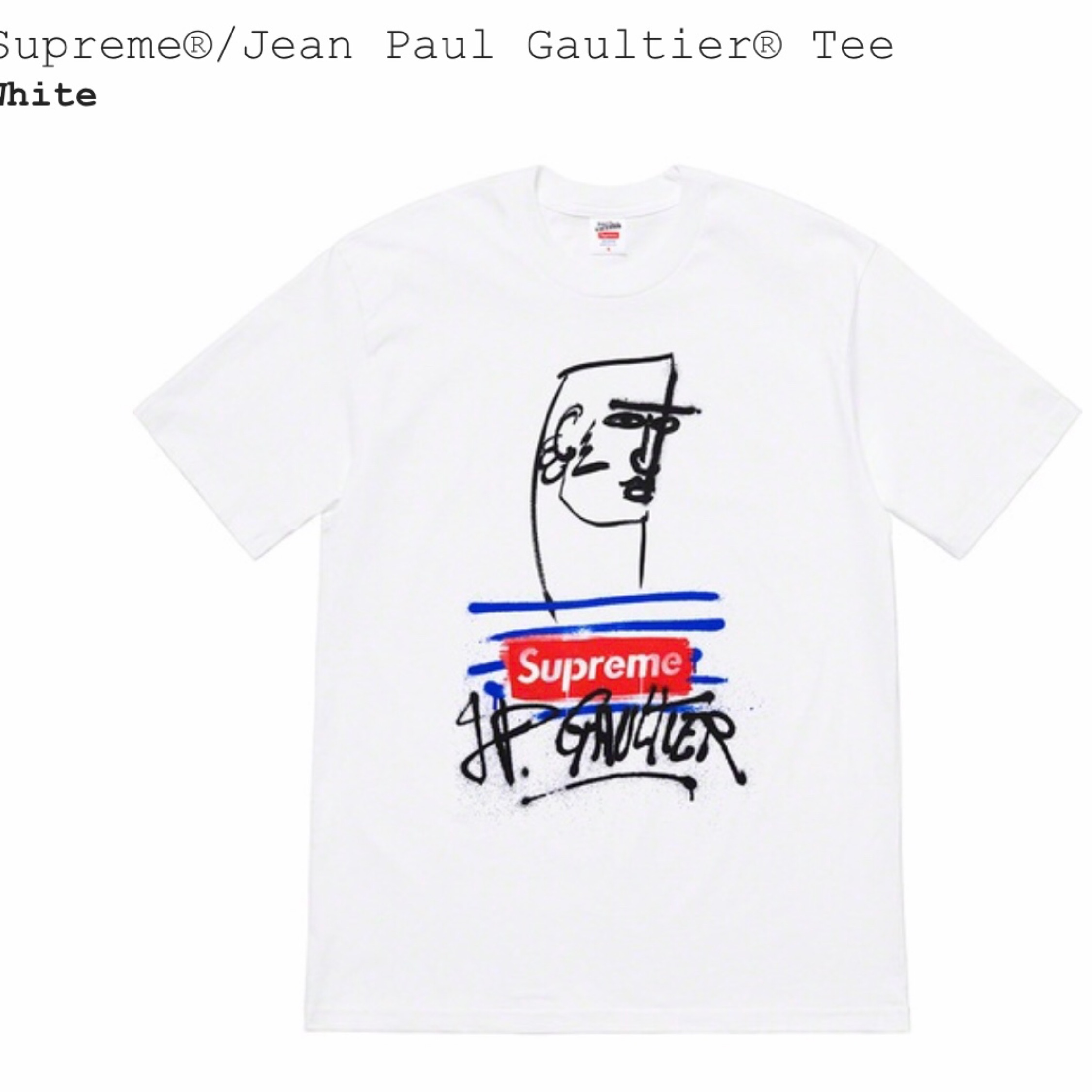 good service lace up in presenting Supreme Jean Paul Gaultier Tee T Shirt Box Logo