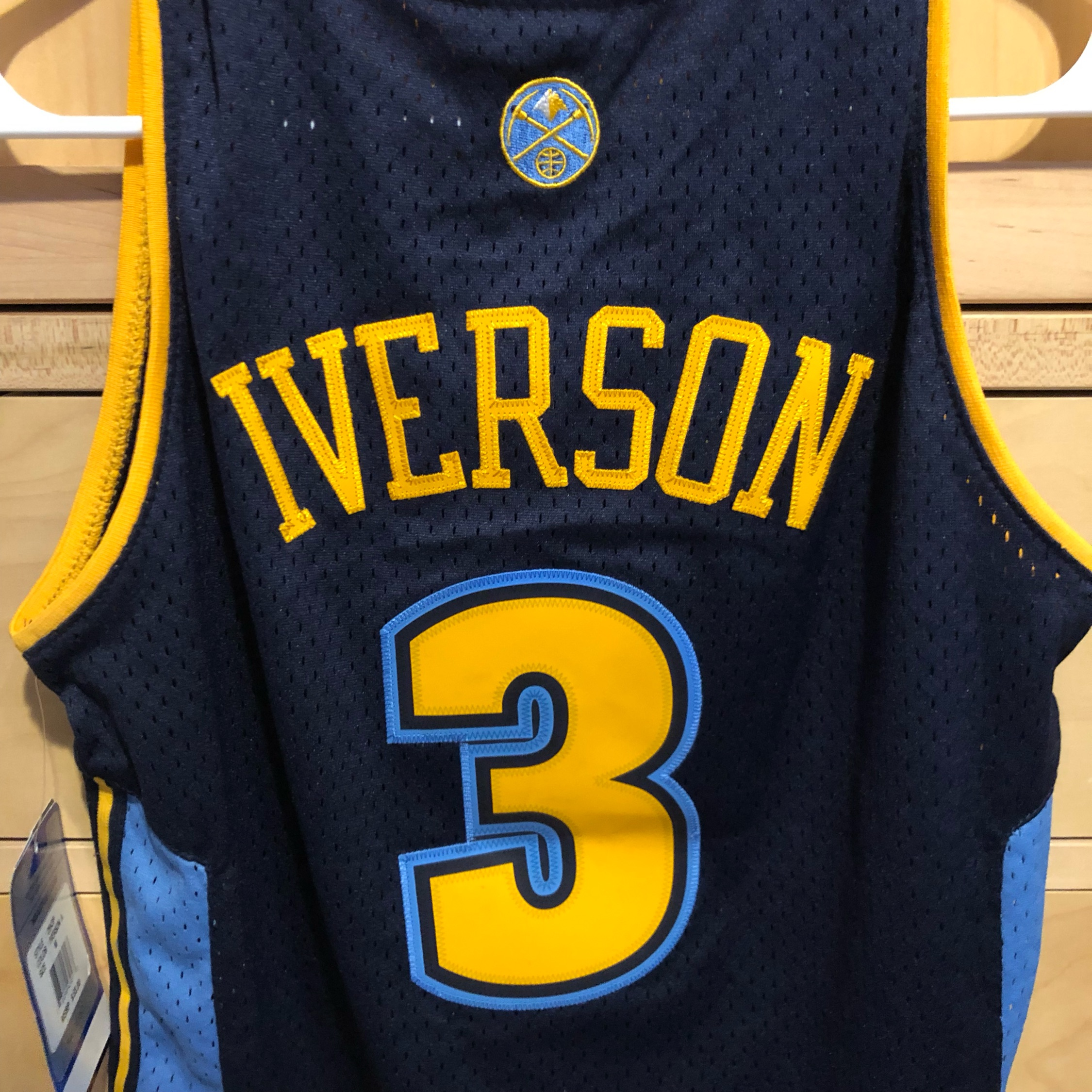 huge selection of c031a d0ceb Adidas Denver Nuggets Allen Iverson Jersey Youth