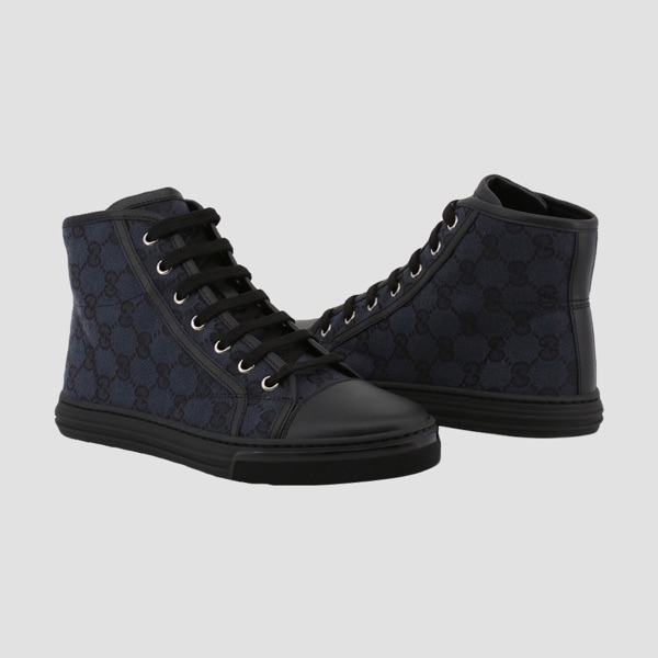 Gucci 'Gg' Monogram Embossed High Canvas Trainers