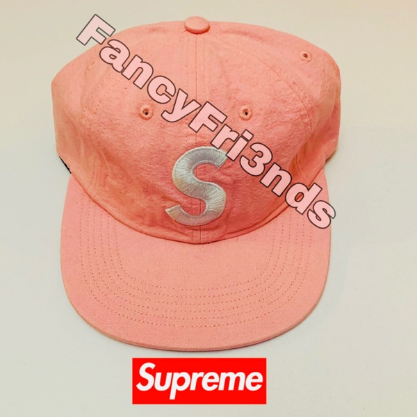 Supreme Washed Chambray S Logo 6-Panel Pink