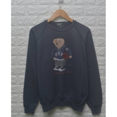 Vintage Polo Bear By Ralph Lauren 90s sweatshirt ski crewneck pwing polo stadium cookies