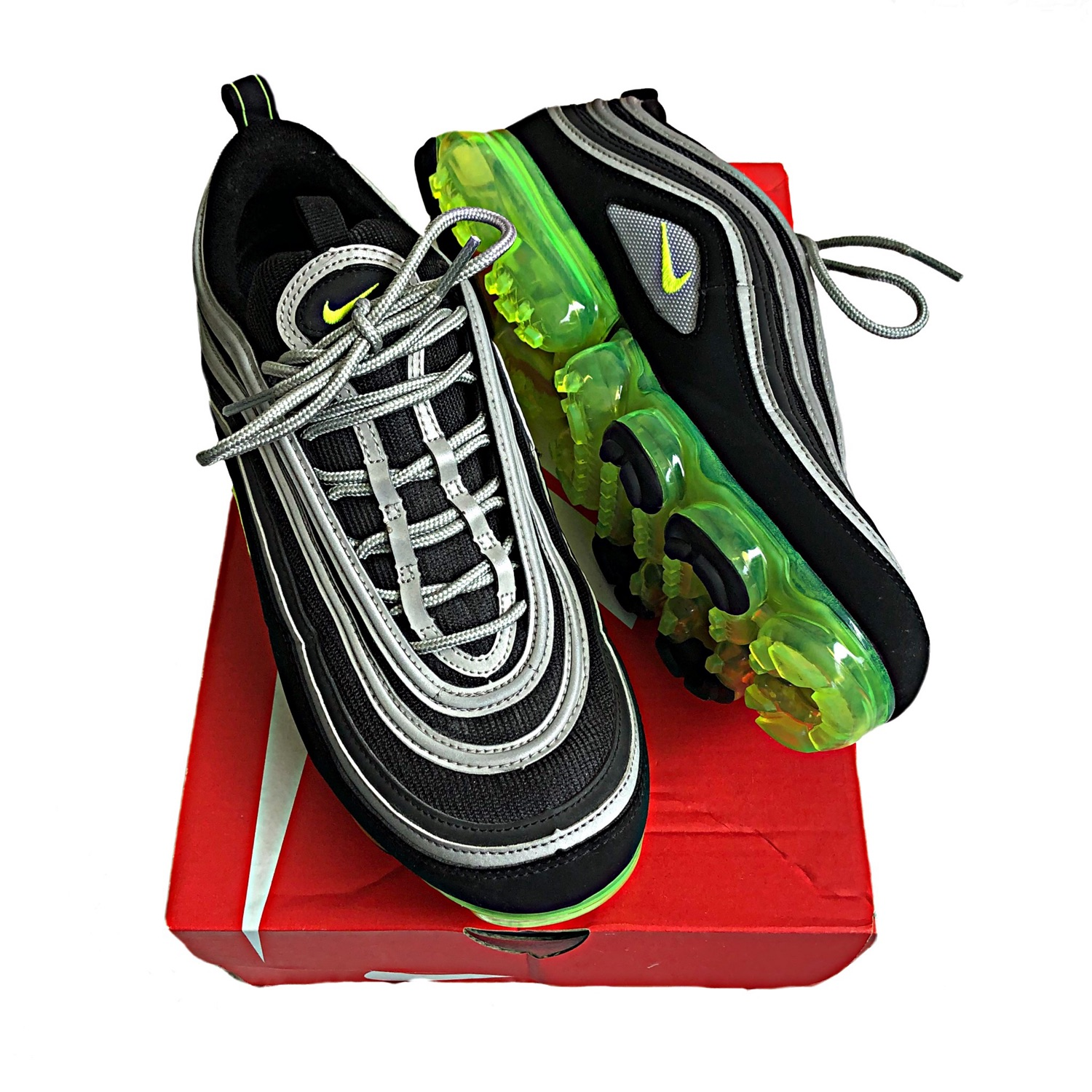 Nike Air Max 97 Vapor Max Neon And Black Shoe