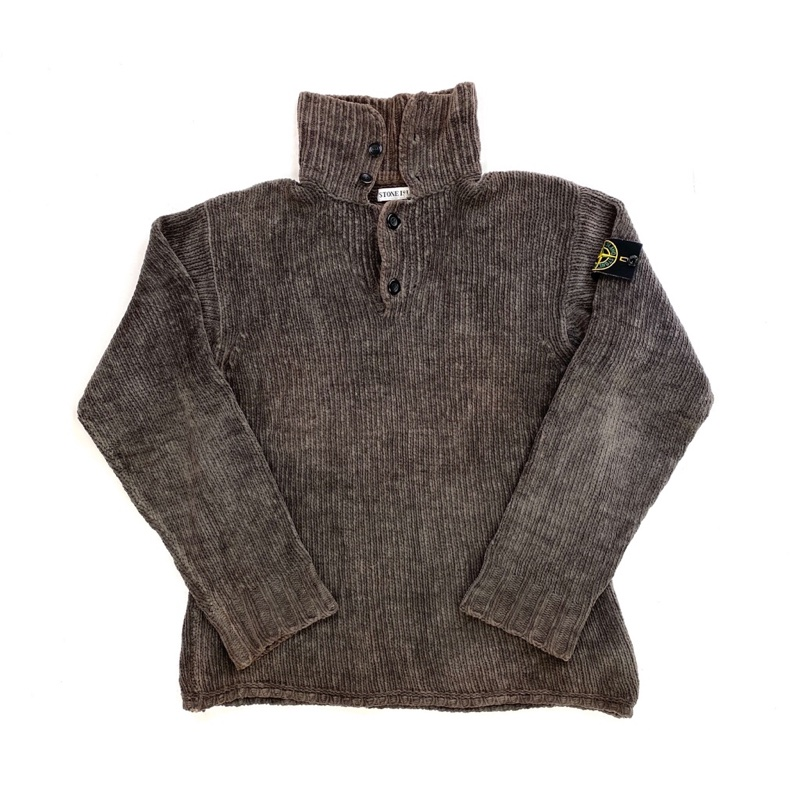 STONE ISLAND VINTAGE 1998 CHENILLE KNIT PULLOVER JUMPER