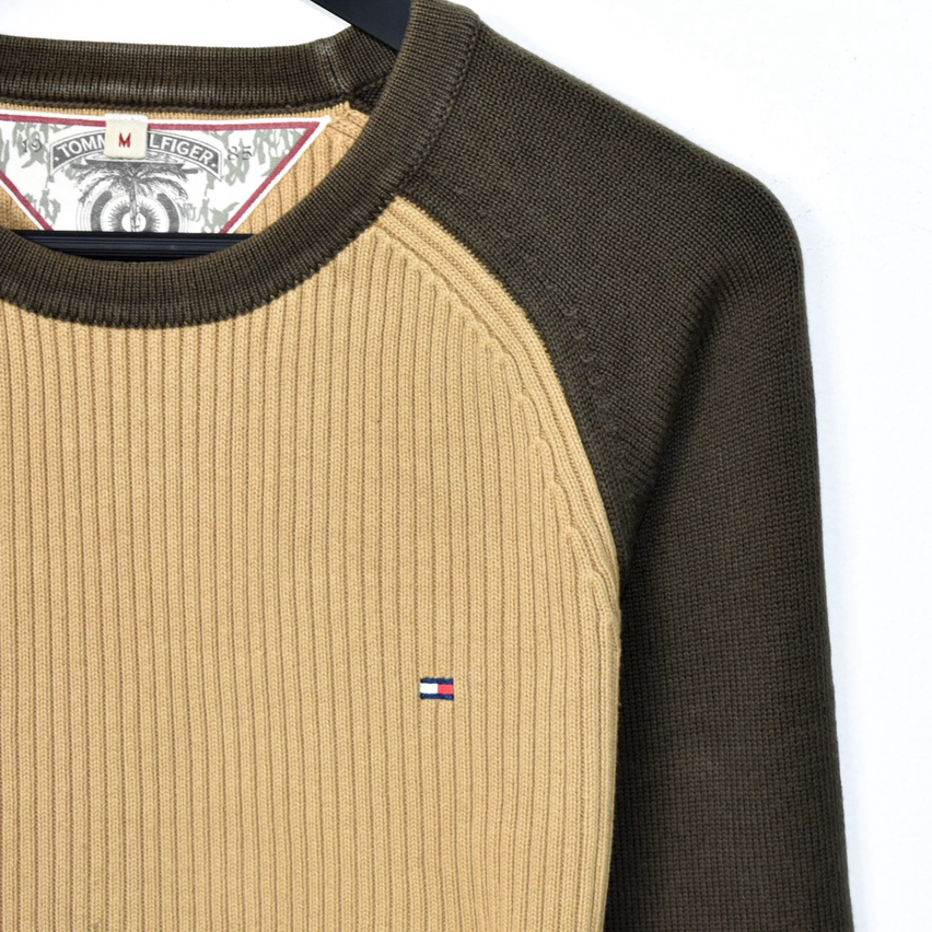 Vintage Tommy Hilfiger sweatshirt jumper long sleeve tee pullover in brown