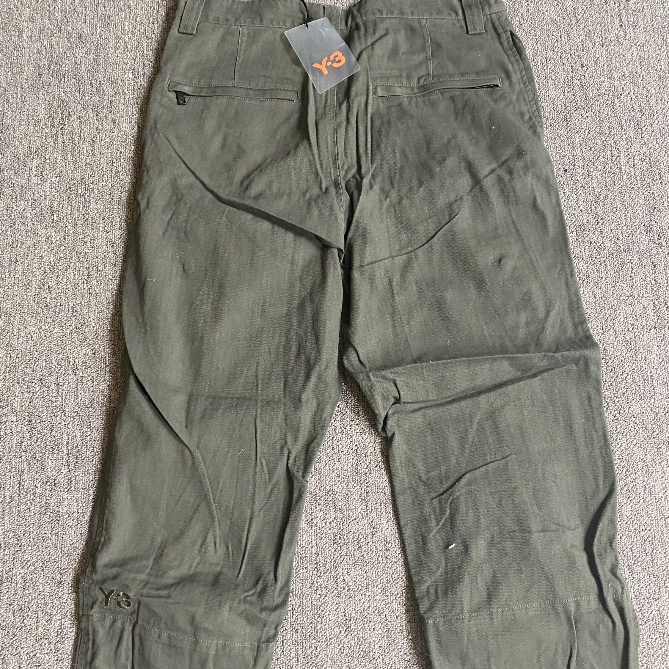 X Adidas Olive Green Cargo Pants Size