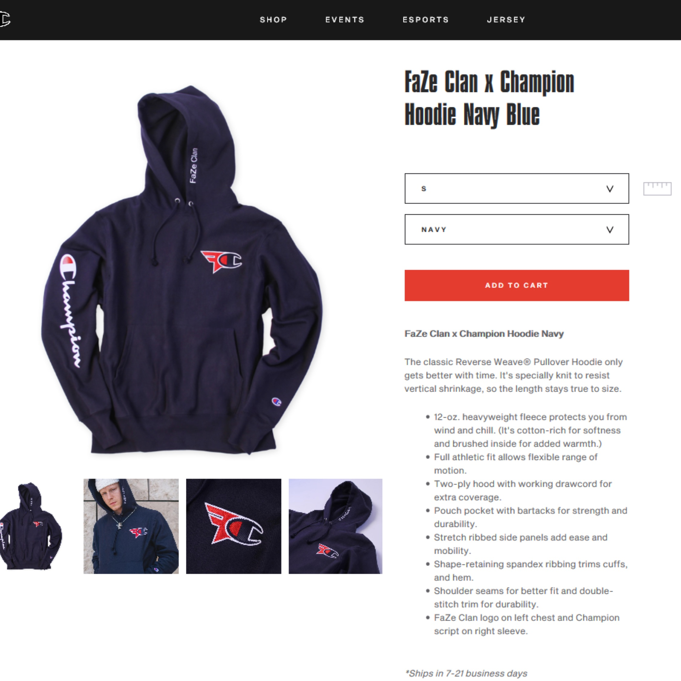 Faze Clan X Champion Hoody