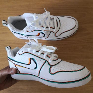 Custom Nike Court Borough Low Sneakers