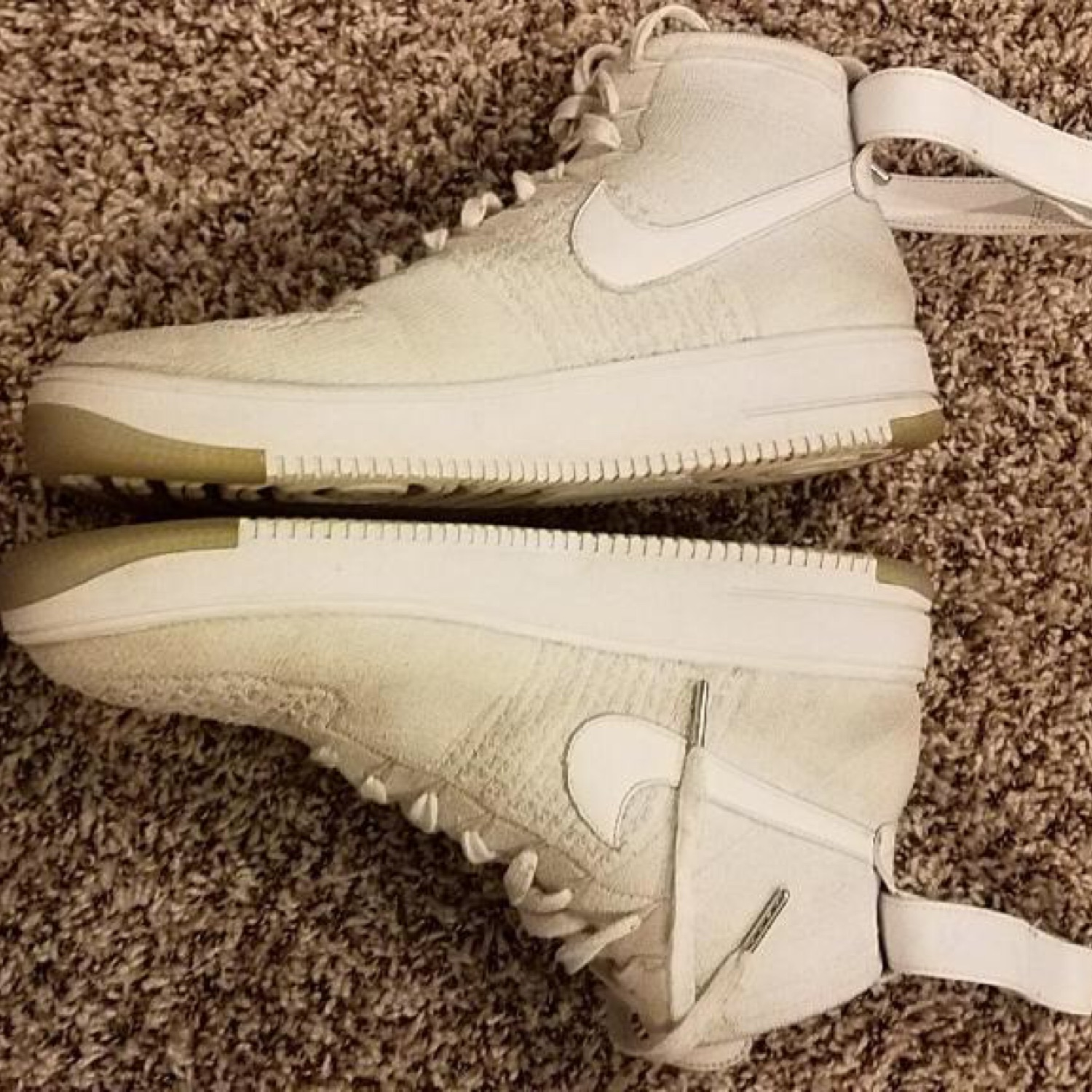 official photos e9d23 abe25 Nike Air Force 1 High Flyknit White