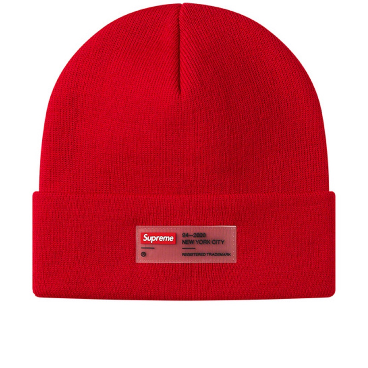 Supreme Clear Label Beanie Red
