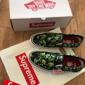 Ss18 Supreme X Vans Skull Pile Slip-On Pro UK 12 US 13 EUR 47