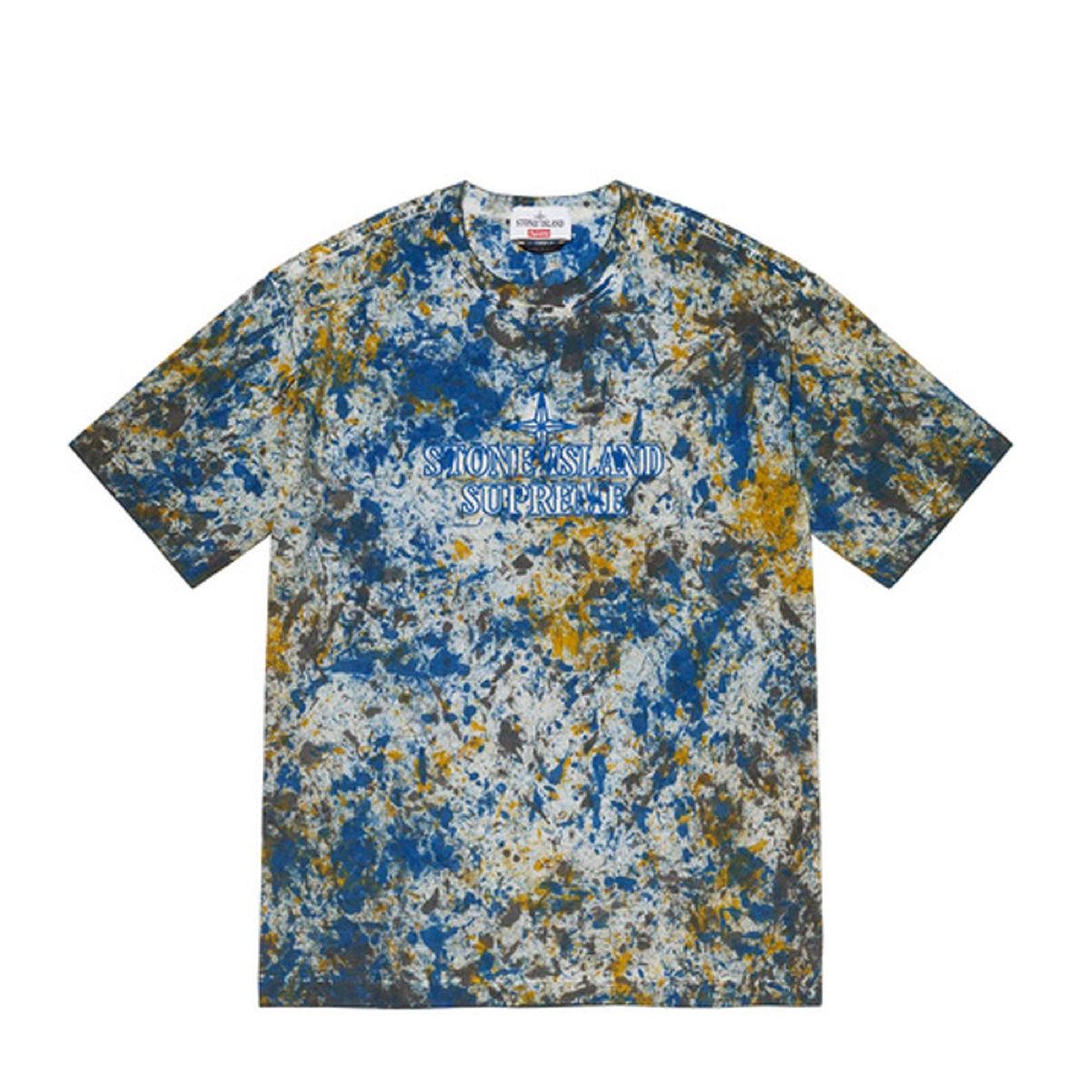 Supreme Stone Island Embroidered Logo SS Top Blue
