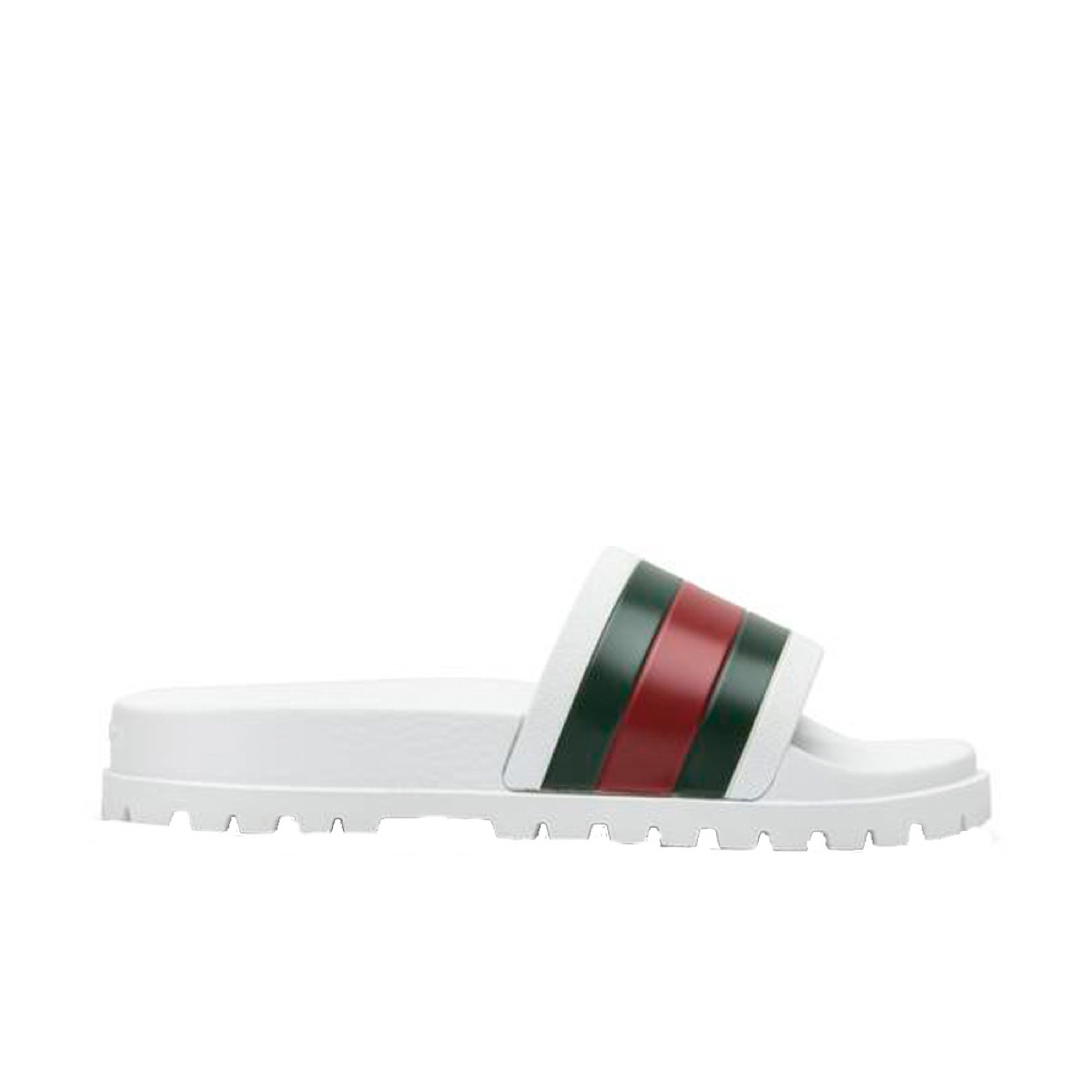 Gucci Web Slide Sandal White