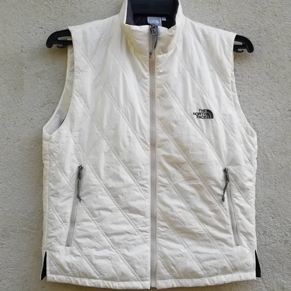 The North Face White Puffer Vest Size Medium