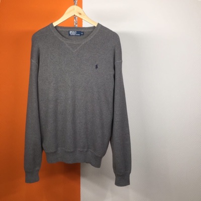Polo Ralph Lauren Vintage 90'S Grey Sweatshirt