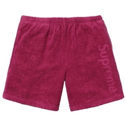 Supreme Terry Logo Short Dark Rose New M