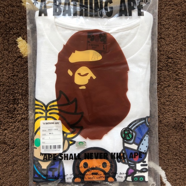 Bape Dragon Ball Z Trunks & Mecha Frieza Tee White