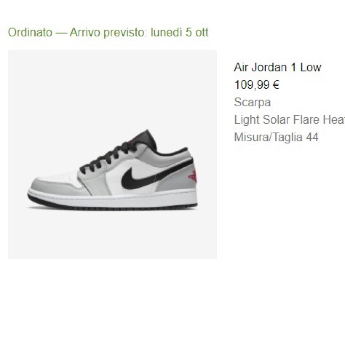 Air Jordan 1 low light solar flare heathern